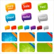 Web Text Boxes And Speech Bubbles — Stock Vector