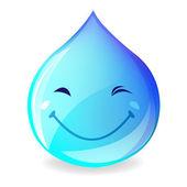 Sorridente goccia d'acqua — Vettoriale Stock