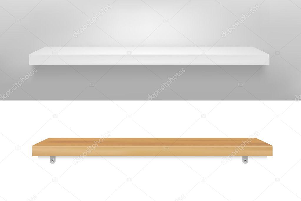 Empty Shelf — Stock Vector © barbaliss #5542529