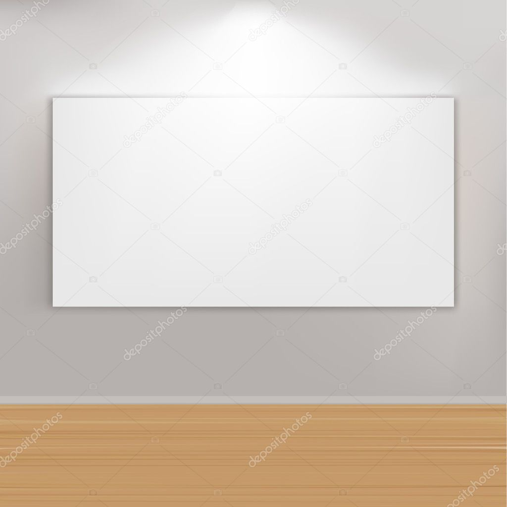 Empty Paintings Frame On Wall, Vector Illustration  Stock Vector #5559694