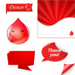 Blood Drop Set — Stock Vector