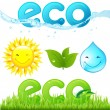 Eco Set — Stock Vector