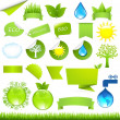 Collection Eco Design Elements — Stock Vector