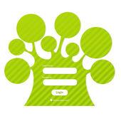 Login Password In Form Of Tree — Stock Vector