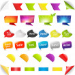 Royalty-Free Stock Vector Image: Big Set Stickers And Ribbons