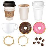 Set Coffee — Stock Vector