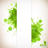 Design Eco Friendly — Stock Vector