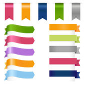 Ribbons Set — Stock Vector