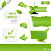 Eco Green Set — Stock Vector