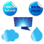 Water Sticker — Stock Vector