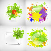 Backgrounds With Glass And Blots — Stock Vector