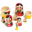Matrioshka doll part isolated — Stock Photo