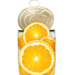 Fresh orange in cross-section — Stock Photo