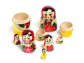 Matrioshka doll deel geïsoleerd — Stockfoto