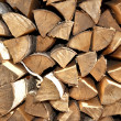 Stock Photo: Fire wood lies in woodpile