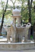 Fountain with elephants — Stock fotografie