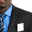 Business man with business card in the pocket — Stock Photo #5560670