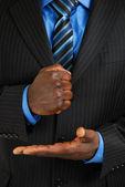 Business man assertive gesture — Stock Photo