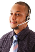 Business support operator — Stock Photo