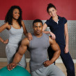 Stock Photo: Fitness training team