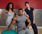 Fitness training team — Stock Photo