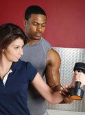 Fitness trainer couple — Stock Photo
