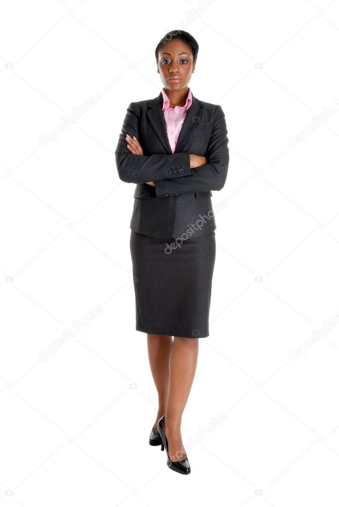 Serious Business Woman a Business Woman Standing