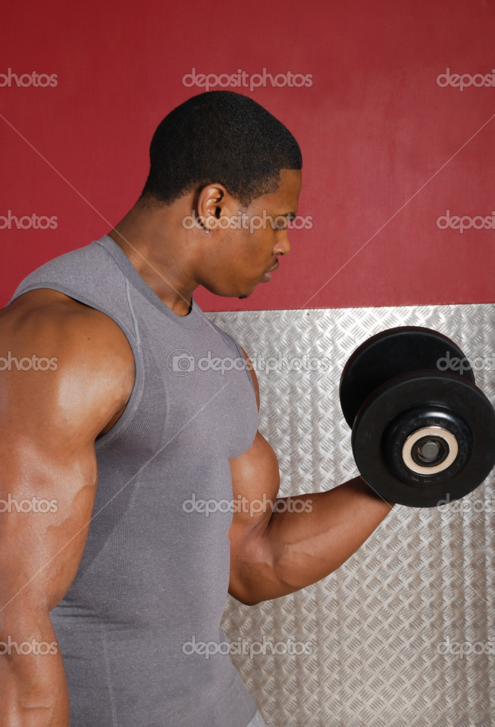 This is an image of a man lifting weights. — Stock Photo #5575768
