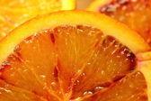 Krvavých pomerančů plátek zavřít — Stock fotografie