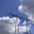 Electric pylon, high voltage line — Stock Photo