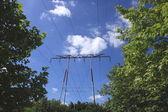 Electric pylon, high voltage line — Stock Photo