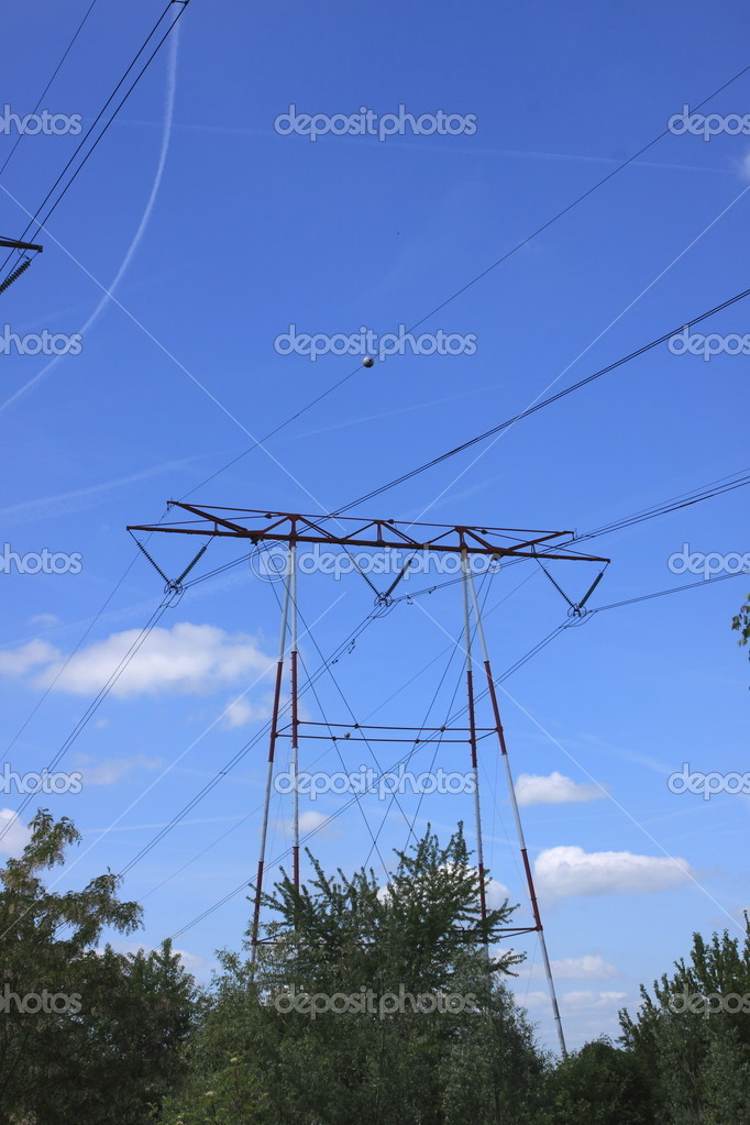 Electric pylon, high voltage line  Photo #6434025