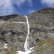 Wild streams and waterfalls of Norway in summer - Stock Photo
