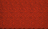 Red curtain on the stage — Stock Photo