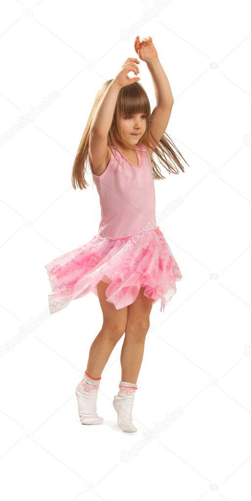 Little girl dancing — Stock Photo © cherrinka #5397598