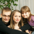 Father and his daughters - Stock Photo