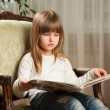 Girl Reading - Stock Photo