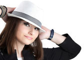 Girl in the hat — Stock Photo