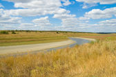 River in steppe — Stock Photo