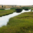Steppe river — Stock Photo