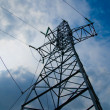 Stock Photo: Power transmission tower