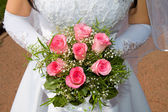 Wedding pink bouquet — Stock Photo