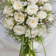 White fine rose in wedding bouquet — Stock Photo