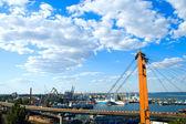 Marine port in Odessa — Stock Photo