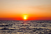 Sunset over sea — Stock Photo