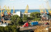 海洋港口在敖德萨 — 图库照片