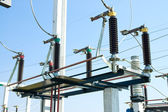 High voltage substation — Stock Photo