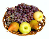 Vine, apples and pears — Stock Photo