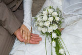 Two hands close up just merried — Stock Photo