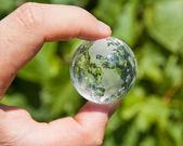 Erth na mão verde acima — Foto Stock